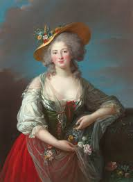 Elisabeth, Marie Antoinette's sister in law. Queen, in tears begged her to look after her children, when she was taken away from them.